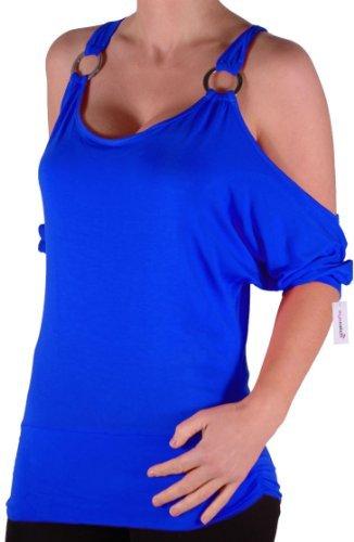 EyeCatch Plus Size - Tunique drapée - Belladonna - Femme Royal bleu