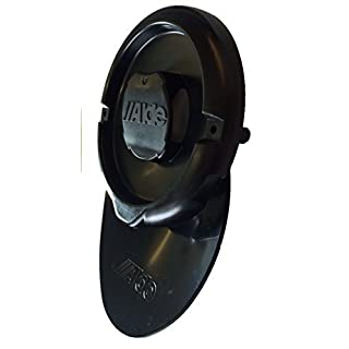 Caravan / Motorhome Alde Heating Wall Flue Cap with Condensation Spout (Black)