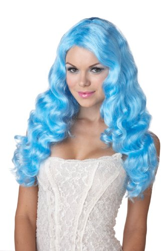 California Costumes Eye Candy Sweet Tart Wig, Baby Blue, One Size (Baby Blue Candy)