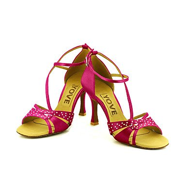 XIAMUO Anpassbare Frauen Beruf Tanz Schuhe Fuchsia