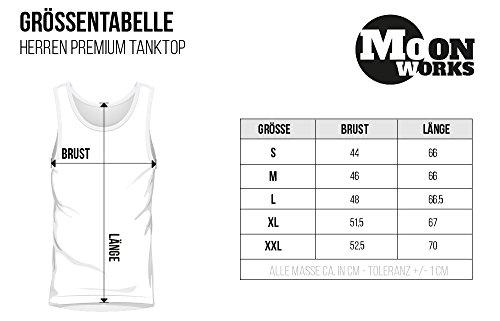 Herren Tanktop Von nix kommt nix Muskelshirt Tank Top Muscle Shirt Achselshirt Moonworks® Weiß