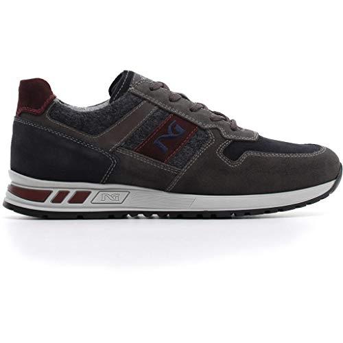 Nero giardini uomo sneaker a800471u marinegrey scarpa in camoscio autunno inverno 2019 eu 40