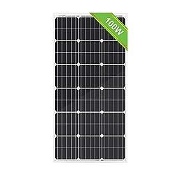 ECO-WORTHY Solarmodul, 100 W, 12 Volt, Polykristalline, zum Laden von Batterien.