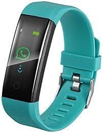 Fitness Armband Mit Pulsmesser, Muamaly Fitness Tracker Blutdruckmesser Wasserdicht Ip67 Farbbildschirm Aktivitätstracker Uhr Smartwatch Pulsuhren SchrittzäHler Für Damen Herren (Grün)