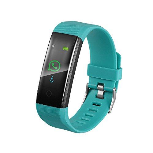 Jiameng smartwatches - orologio astuto del braccialetto pedometro forma fisica di sport sonno banda da polso variopinto intelligente pressione arteriosa frequenza cardiaca dello schermo colori verde