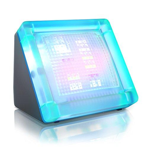 fernseh simulator CSL - TV Simulator/Fake TV | LED Fernseh Attrappe/durch Lichtsimulation zum Einsatz als Einbruchschutz/Home Security | 20 Farbige LEDs | 3 Programme | Lichtsensor und Zeitschaltuhr