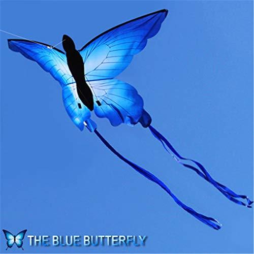 ECMQS Blau Schmetterling Drachen Draussen Spaß Drachen mit 30m Schnur Kinderspielzeug Sommersport