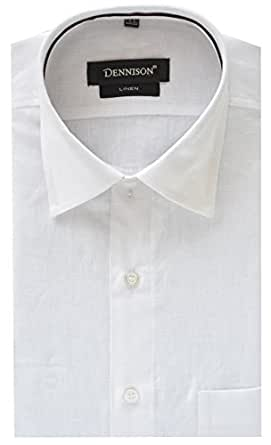 Dennison White Linen Mens Formal Shirts
