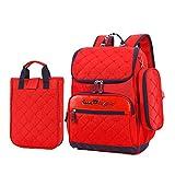 Rucksack,Wasserdicht Rucksack Set Jungen Backpack Einfarbig Schulrucksack Mädchen Daypack Basic Schultasche Premium Cityrucksack mit Tasche (Rot)-Rot