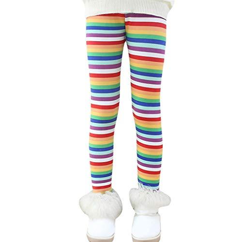 Neugeborenes Baby Mädchen Winter Dick warm Lange Hosen Drucken Fleece Lined Leggings