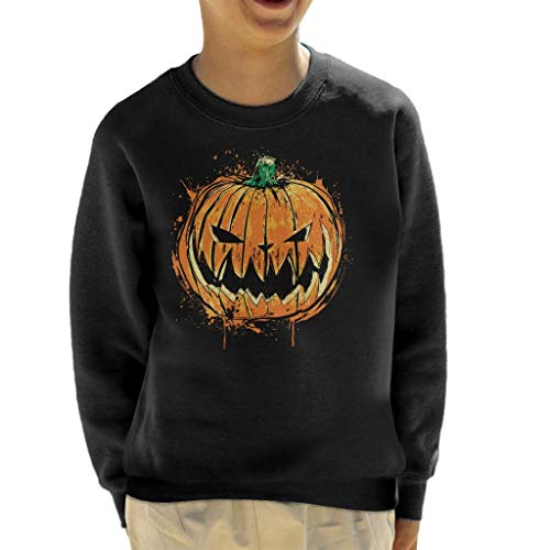 Pumpkin King Halloween Kid's Sweatshirt (Halloween The Jack King Pumpkin)
