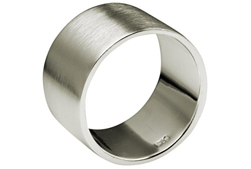 SILBERMOOS XL XXL Ringe in großen Größen Damen und Herren Bandring Partnerring klassisch 925 Sterling Silber Größe 62, 64, 66, 68, 70, 72, 74, Größe:66 (21.0)