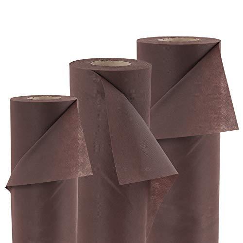 600 M² tapis de paillage mauvaises 80 g largeur de 1,6 m (marron)