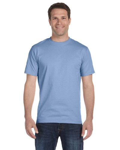 Hanes Beefy-T Adult Short-Sleeve T-Shirt 5180 Light Blue