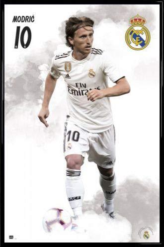 newest 0c12f 23d33 1art1® Fútbol Póster con Marco (Plástico) - Real Madrid 2018/19, Luka  Modric (91 x 61cm)