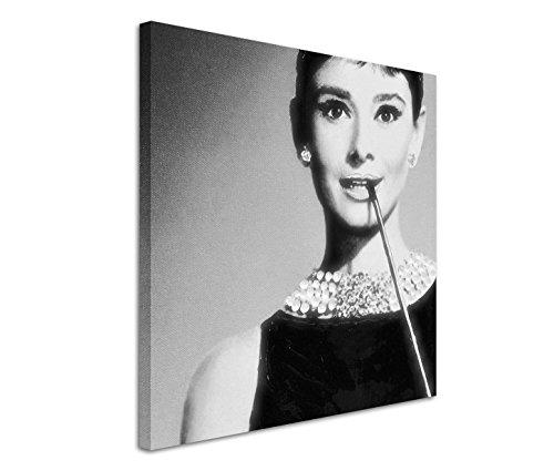 Modernes Bild 90x90cm Künstlerische Fotografie - Die Ikone Audrey Hepburn