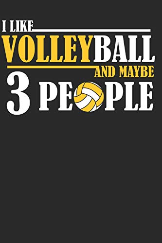 d Maybe 3 People: Volleyball Paperback Journal, Composition Book College Wide Ruled, Gift for Coach, Teen, Girls, Boys, Player. ... (60 sheets). Gift for Birthday, Anniversary ()