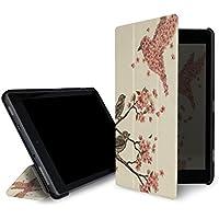 caseable leichte Hülle für Fire 7-Tablet (7. Generation – 2017 Modell), Blossom Bird (mit Standfunktion und Auto Schlaf/Wach Funktion)