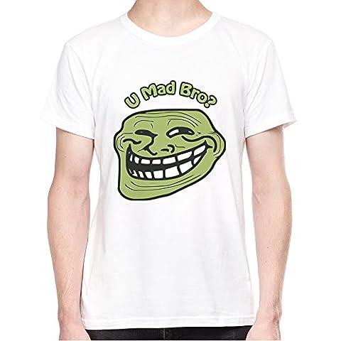 U mad bro Herren T-Shirt - Weiss X-Large