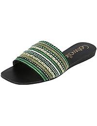 Catwalk Green Slip-on for Women's
