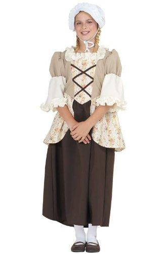 leines Kind Colonial Bella Custume (Belle Halloween Kostüm Ideen)