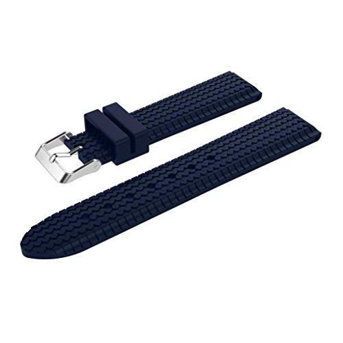 Für Garmin Fenix Chronos GPS Watch Transer® Ersatz Uhrenarmbänder Sport Silikon Uhrenarmband Armband für Uhren Große: 24cm (Marine)