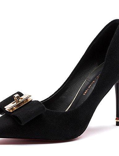 ShangYi Damenschuhe - - - High Heels - Hochzeit / Büro / Kleid / Lässig / Party & Festivität - Pelz - Stöckelabsatz - Absätze - Schwarz / Rot schwarz  [B01FD1JINK] 7a5598
