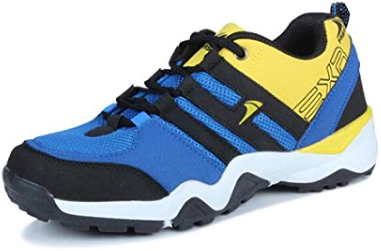 Otoño sportschuhe herrenlaufschuhe Malla Casual Guantes transpirable zapatillas Hombres Modelos, blue yellow, 42