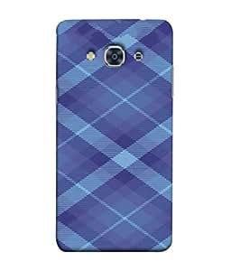 PrintVisa Simple Blue Check Pattern 3D Hard Polycarbonate Designer Back Case Cover for Samsung Galaxy J3 Pro :: Samsung Galaxy J3 (2017)