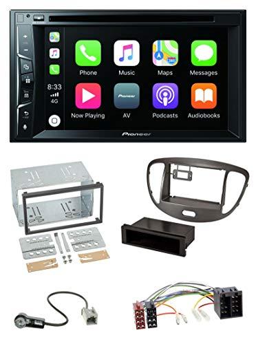 caraudio24 Pioneer AVH-Z2200BT MP3 CD USB Bluetooth 2DIN DVD Autoradio für Hyundai i10 2008-13 dunkelsilber