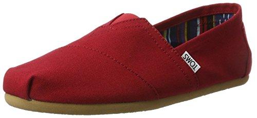 TOMS Herren Alpargata Espadrilles Rot (Red Canvas) 39 EU - Männer Rot Schuhe Tom