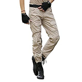 BWBIKE Men's Military Tactical Trousers with Knee Pads Combat Work Pants