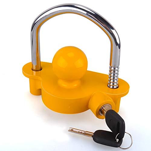 Anhänger Schloss Anhängerkugelsperrkupplung Abschleppsperre einstellbar Einfache Installation Hochleistungs-Stahl-und Aluminiumlegierungssockel für das Abschleppen von Wohnwagenanhängern