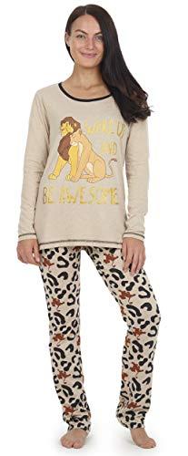 Disney König Der Löwen Pyjamas Für Damen, 2-teilige Pjs Mit Langen Ärmeln Und Animal-Print-Leggings, Nachtwäsche Aus Baumwolle, Loungewear In Den Größen 36 Bis 46 Erhältlich (Simba Kostüm Für Hunde)