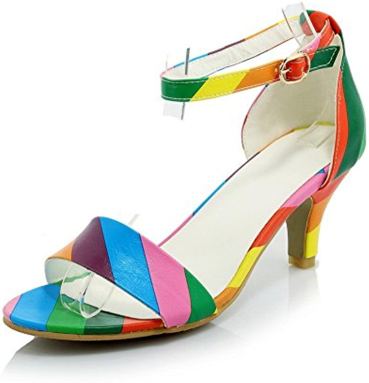 Adee - Sandalias de vestir para mujer, color Multicolor, talla 38 -