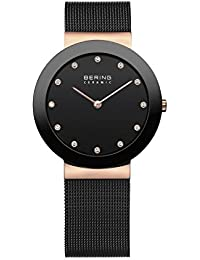 Bering Time Damen-Armbanduhr Analog Quarz Edelstahl beschichtet 11435-166