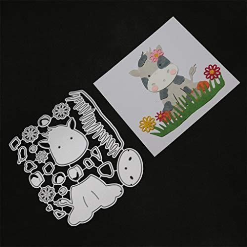 TianranRT Metallo Die Taglio Muore Stencil Per DIY Scrapbooking Album Carta Decor Craft,Stampi per goffratura prodotti fai-da-te per la casa Modello di amore Tesoro dolcezza,multicolore