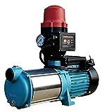 OMI Gartenpumpe 1300W Kreiselpumpe Wasserpumpe Jetpumpe Hauswasserwerk MHI 1300 Inox mit Steuerung Brio SK-13