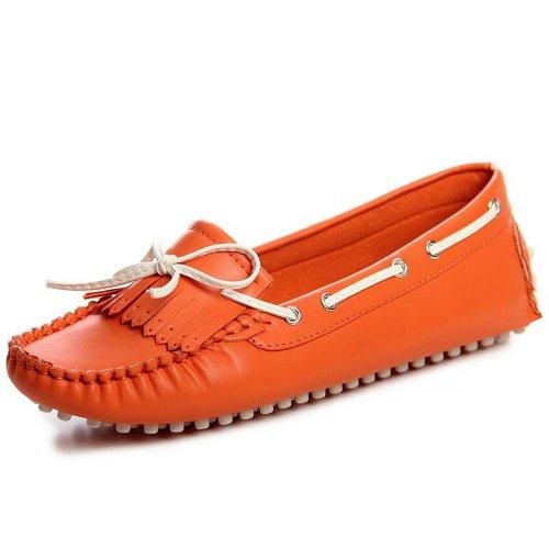 topschuhe24 , Ballerines pour femme Orange  - Orange