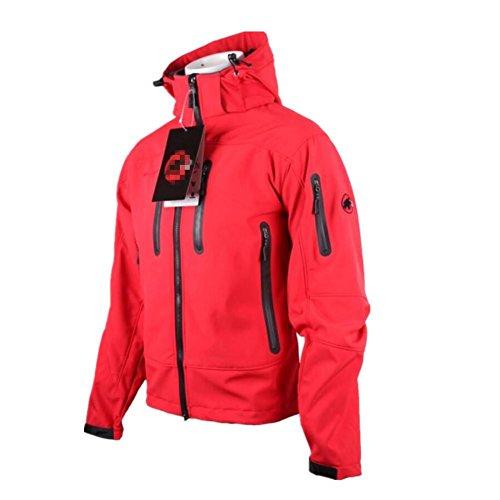 HHORD Outdoor Veste d'escalade pour Hommes Stand col Hoodie Leisure Type lâche Printemps et Automne Soft Sports Vestes, XL