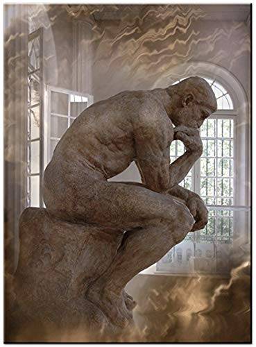 Wall Art Contemporain - Le Penseur - Rodin - Idéal pour décorer la maison - Fait un grand cadeau - par Lea Schock - fabriqué en France