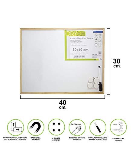 Oryx 3081170 Pizarra Magnetica Blanca 30x40 cm. Con