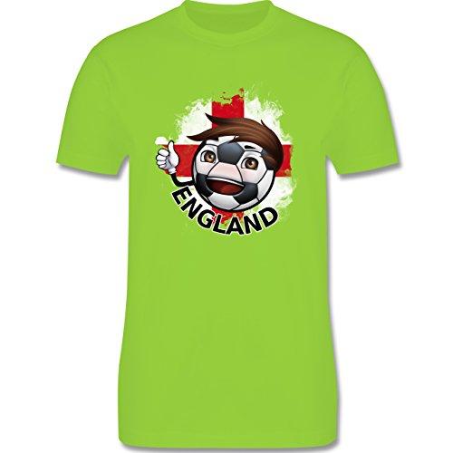 EM 2016 - Frankreich - Fußballjunge England - Herren Premium T-Shirt Hellgrün
