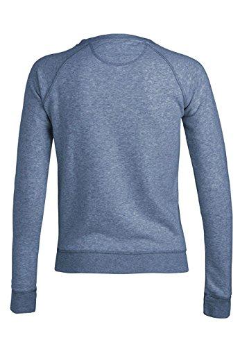 Royal Shirt sweat basique à col rond avec manches raglan pour femmes Mid Heather Blue