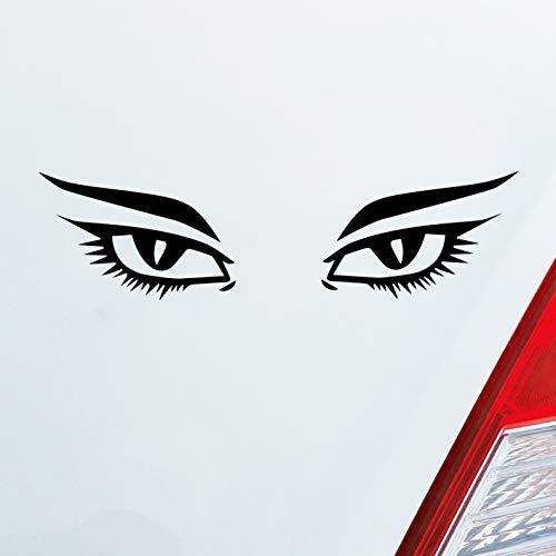 Auto Aufkleber in deiner Wunschfarbe Augen Frau Sexy Eyes Tuning Dub OEM JDM 15x4 cm Autoaufkleber Sticker Folie