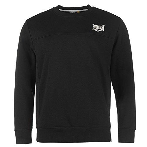 everlast-herren-sweatshirt-pullover-langarm-rundhals-sport-freizeit-sweater-schwarz-medium