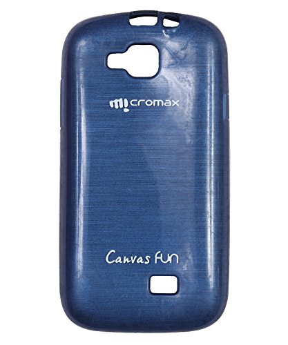 iCandy™ Soft TPU Shiny Back Cover For Micromax Canvas Fun A63 - BLUE  available at amazon for Rs.195