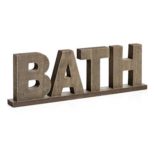 CVHOMEDECO. Rustikale Vintage notleidenden Holz Wörter Zeichen freistehend
