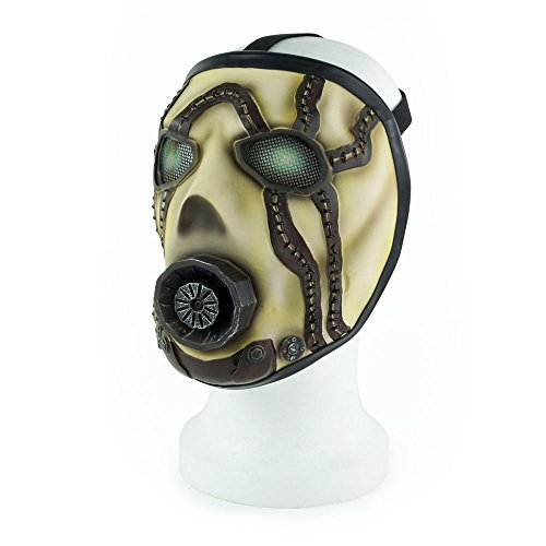 Maske Vinyl Kostüm - Borderlands Latex Mask Psycho
