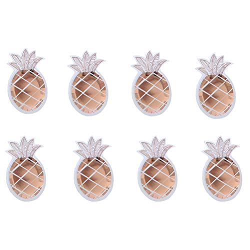 Toyvian 8 Stücke Einweg Pappteller Ananas Form Party Essen Platte für Hawaiian Luau Party Supplies (25x14,5 cm)